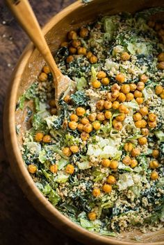 Crowd Pleasing Vegan Caesar Salad via Oh She Glows
