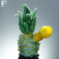 mini pineapple bong, the glass is pretty and I need this #pinagang