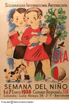 Semana del Niño: 1 al 7 enero 1938 :: Cartells del Pavelló de la República…