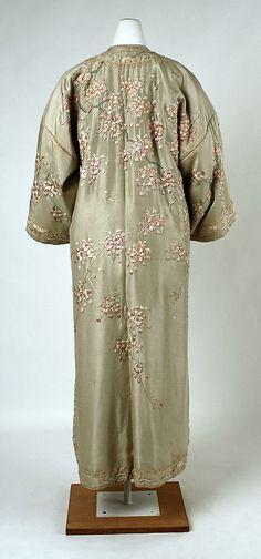 Japanese Embroidered Silk Coat, ca. 1900 Coat