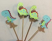 Dinosaur T-Rex & Brontosaurus Table Decorations - Set of 4