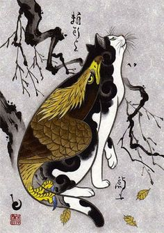 arte, VARIEDADES, tattoos, gatos, tebori, Horitomo, Monmon Cats, gatos tatuados
