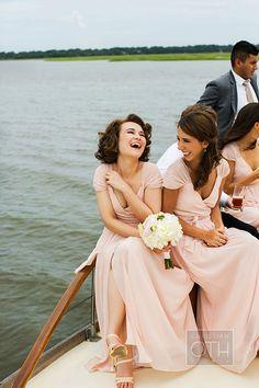 Blush-colored @joannaaugust #bridesmaiddresses | @christianoth | Brides.com