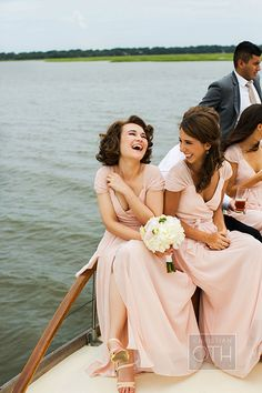 Pins we LOVE #myfauxdiamond Blush-colored @joannaaugust #bridesmaiddresses | @christianoth | Brides.com