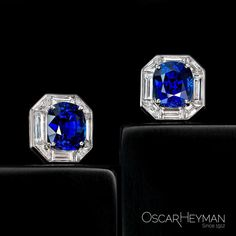 Gift these 10ct Cushion Sapphire Frame Earrings to a loved one, or to yourself!