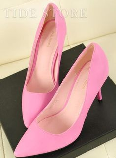 newest collection f1aea d7422 Elegant Korean Style Sexy OL Pink Closed Toe High Heels