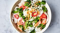 Rice Noodles with Shrimp and Coconut-Lime Dressing Recipe | Bon Appetit