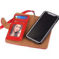 Peňaženka a magnetický obal na iPhone X z kože v červenej farbe (2) Mobiles, Electronics, Mobile Phones, Consumer Electronics