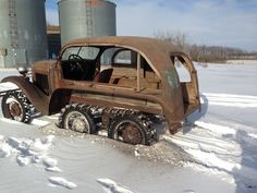 Eskimobile, found in South Dakota  in 2014. Despite the temperature being -14 degrees F, it reportedly started and ran without issue.