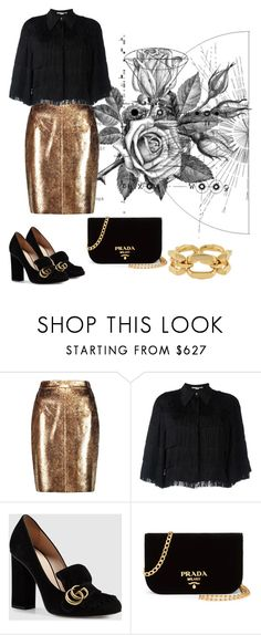 """golden age"" by mimivasilevak ❤ liked on Polyvore featuring Boudicca, Raoul, STELLA McCARTNEY, Gucci and Prada"