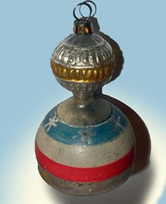 Magnificent Antique Patriotic Christmas Ornament as a liberty bell. Old Fashioned Christmas Decorations, Antique Christmas Ornaments, Christmas Tree Themes, Christmas Past, Victorian Christmas, Vintage Ornaments, Christmas Things, Christmas Holidays, Dresden