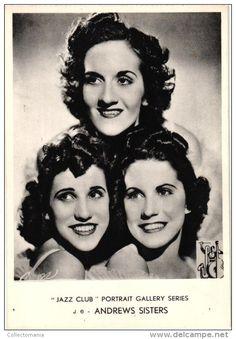 4 Postcards Jazz Club Portrait Gallery Series Andrew Sisters Glenn Miller Cab Calloway Bing Crosby - Delcampe.net