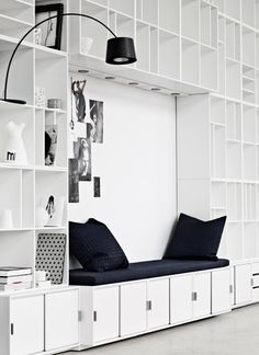 Bench nook - great reading space.