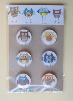 Glass tile magnets - friend/neighbor homemade gift using scrapbook paper and glass tiles