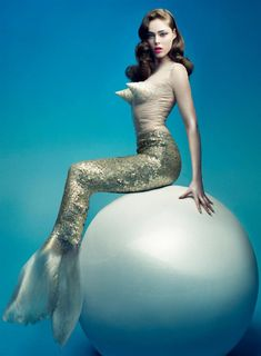 Coco Rocha as a Mermaid. Hot.