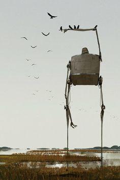 Marshland Crows by Goro Fujita - 3D Animator & Artist. #robot