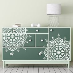 BUKHARA Stencil - Medallion Circular Moroccan Wall Furniture Floor Craft Stencil - BU001