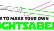 Infographic: How To Make Your Own Lightsaber - DesignTAXI.com