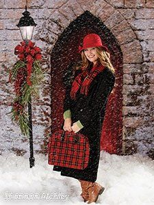 Christmas Photo Backdrop - Red Door