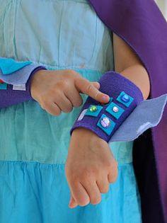 Buggie and Jellybean: Superhero Blaster Cuffs {Tutorial}