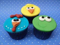 fiesta de la gallina cupcakes