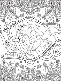 Celebrate National Coloring Book Day with Disney Style | Zootopia printable coloring page | [ http://di.sn/6006B0K6k ]