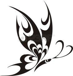 Tribal Butterflies Vector illustration ready for vinyl cutting Stock fotó Tribal Butterfly Tattoo, Butterfly Sketch, Butterfly Stencil, Butterfly Tattoo Designs, Butterfly Art, Butterfly Design, Tribal Images, Tribal Art, Tribal Designs
