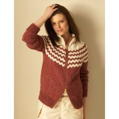 Top Down Alpaca Cardigan Free Knitting Pattern from Bernat of Yarnspirations