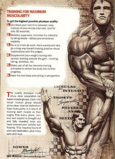 Arnold Schwarzenegger: 013 - Training For Maximum Muscularity
