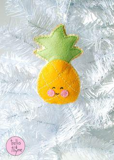 PDF Pattern Little Pineapple Felt Sewing Pattern Winter