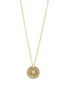 Yellow & white diamond pendant from the Opus collection. By Pleve.