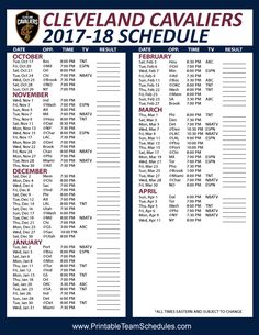 picture regarding Cleveland Cavaliers Printable Schedule named 16 Least complicated Printable Schedules photos inside of 2019 Basketball
