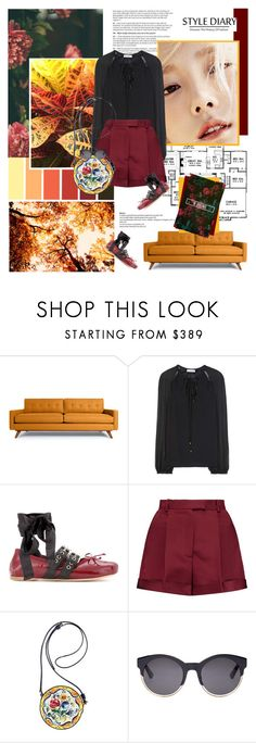 """Sin título #87"" by yuleici ❤ liked on Polyvore featuring Thrive, Altuzarra, Miu Miu, Valentino and Christian Dior"