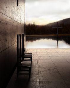 Tadao Ando's Church on the Water.Tomamu, Hokkaidō, Japan. 1988. [via larameeee]