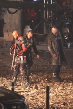 Will Smith, Adam Beach and Jai Courtney on the set of 'Suicide Squad'  #JaiCourtney #SuicideSquad #DCEntertainment