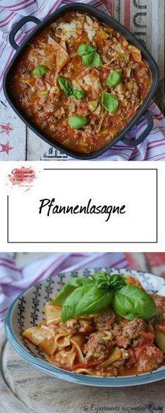 Pfannenlasagne   Rezept   Kochen   Pasta   Schnell