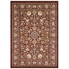 Unique Loom Frederickson Kashmar Rug, Red
