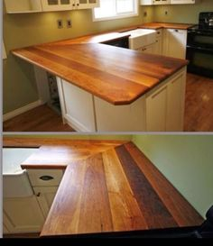 Wood counter top