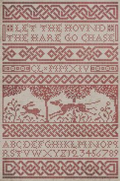 The Hound & The Hare CrossStitch Pattern  Instant by modernfolk, $10.00