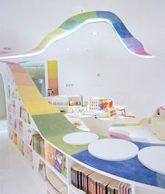 Amazing playground-inspired Kid's Republic children's bookstore designed by SAKO architects in Beijing, China. via Toxel.com -- click through for several more amazing photos!