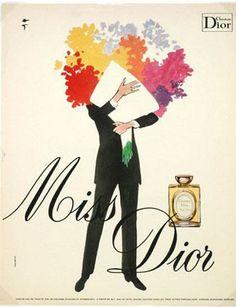 miss dior (illustration by rené gruau)
