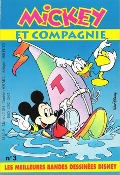 Different countries - Mickey et compagnie (French). Scanned image of comic book (© Disney) cover.