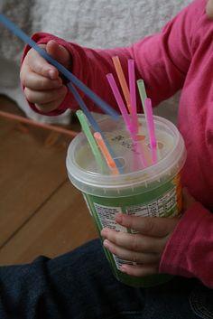 straws through holes