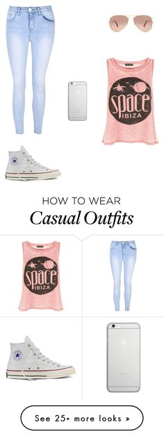 """Cute but casual"" by jjcurtiss on Polyvore featuring New Look, Glamorous, Converse, Ray-Ban and Native Union"