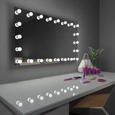 Paris Mirror Princess Hollywood Vanity Mirror, Silver Hollywood Mirror With Lights, Hollywood Vanity Mirror, Dressing Table Lights, Dressing Tables, Bedroom Decor, Bedroom Ideas, Teen Bedroom, Long Mirror, Decorating Rooms