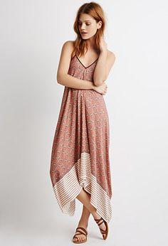 Drapey Floral Tile Print Dress | LOVE21