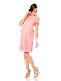 Short Sleeve Belted Maternity Dress