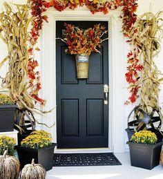 fall front door design   Fall Front Doors and Entryways