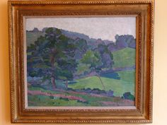 Robert Polhill Bevan. Morning Sunlight, Bolham Valley. 1917. The Bevans rented a cottage called Lytchetts near Clayhidon, in Devon, where this painting was made, from 1916-19.