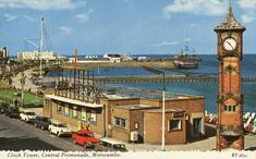 Historic Images of Morecambe, Lancashire, UK - Clock Tower Central Promenade Morecambe British Seaside, British Country, Seaside Resort, Seaside Towns, Blackpool England, Morecambe, Eden Project, Picture Postcards, Local History